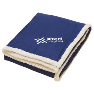 Sherpa Blanket Navy Blue