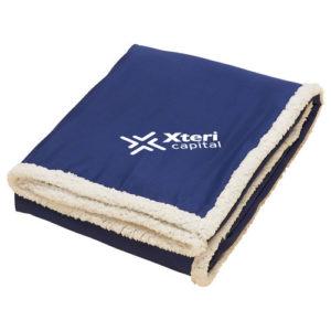 Sherpa Blanket Navy Blue